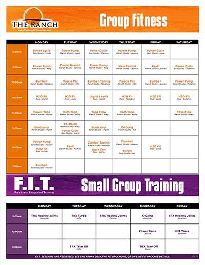 The Ranch Fitness Center Class Schedule Ocala, FL