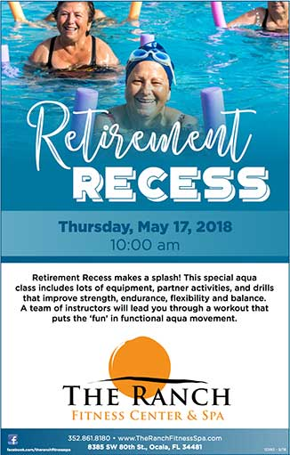 Retirement Recess Aqua Class at The Ranch Fitness Center Ocala, FL - Open to the Public